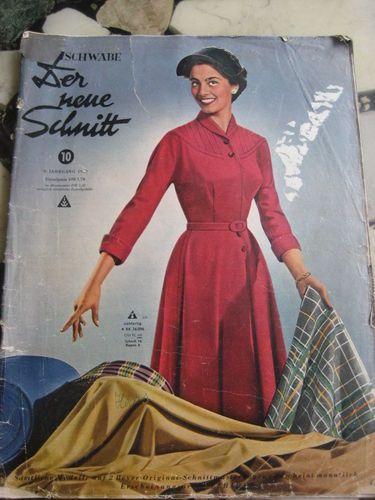 Der Neue Schnitt Heft 10 1953 vintage Schnittmuster Moden Zeitung ...
