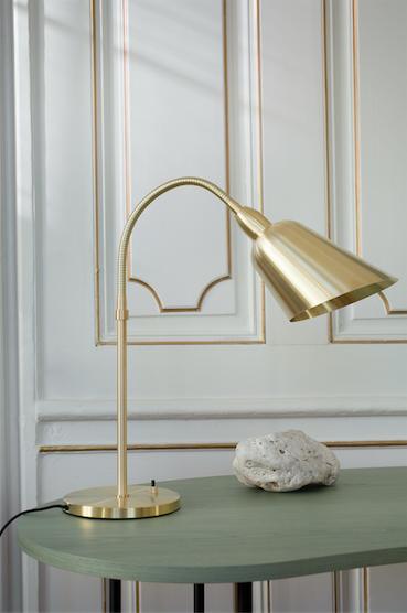 Bellevue Lamp By Arne Jacobsen Palette Desk By Jaime Hayon Brass Desk Lamp Desk Lamp Table Lamp