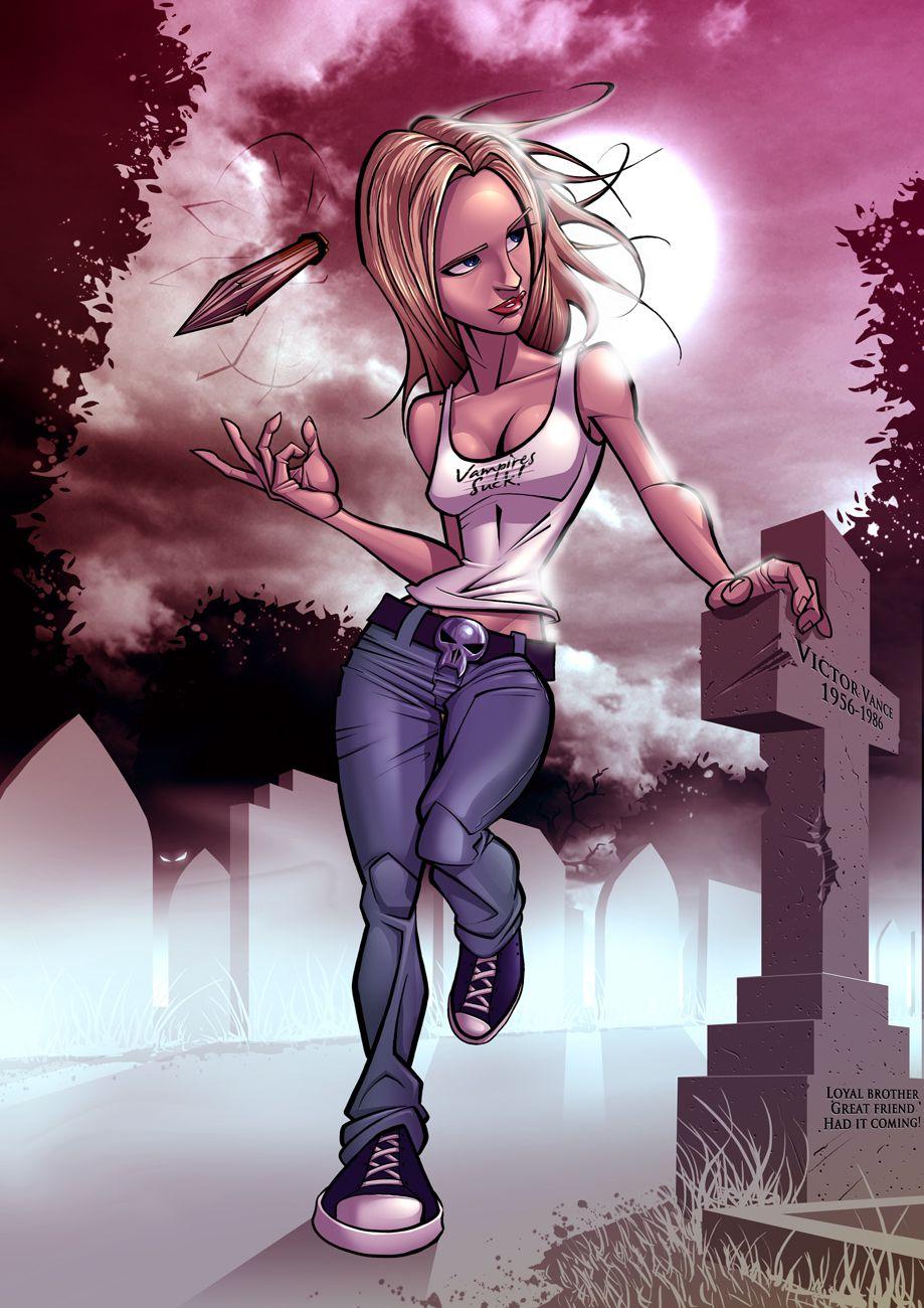 Buffy On the Prowl - Halloween GeekArt - News - GeekTyrant