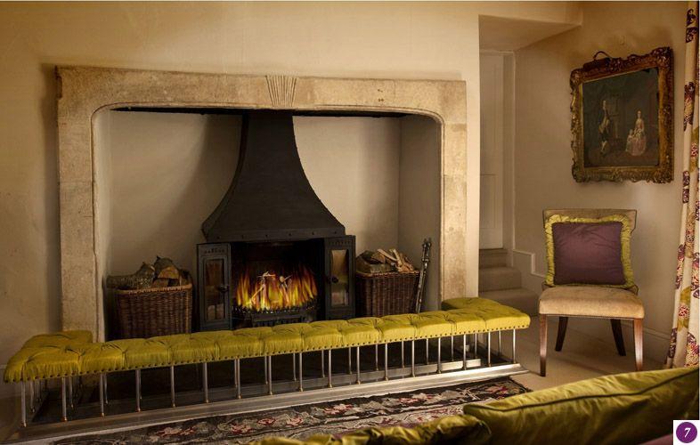 fireplace club fender seat   House   Pinterest   Fireplace ...