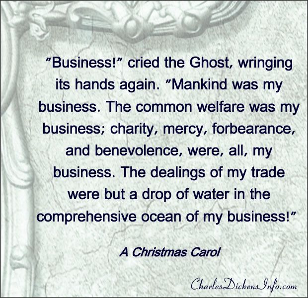 """""""Business!"""" cried the Ghost, wringing its hands again. """"Mankind was my business. Th…   Charles ..."""