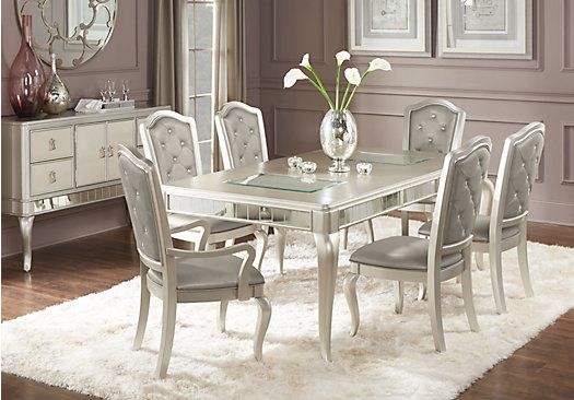 rooms to go dining room table | Sofia Vergara Paris Silver 5 Pc Dining Room | Dining room ...
