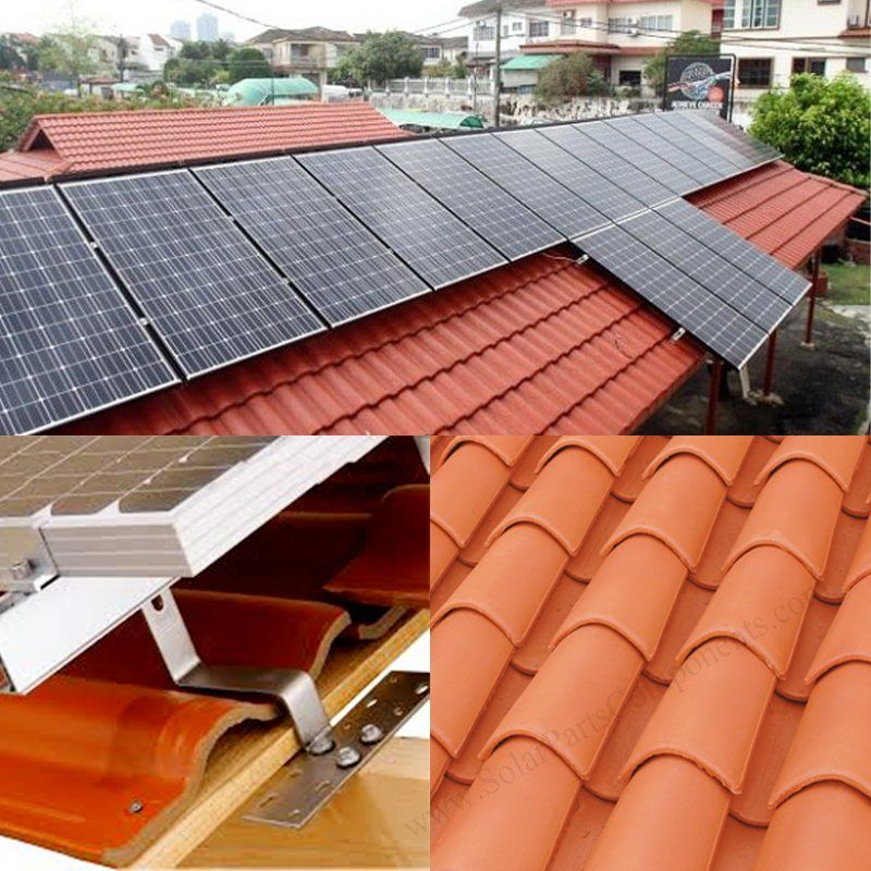 Solar Panel Hooks For Curved Tile Roof Mounting System In 2020 Solar Panels Solar Solar Tiles