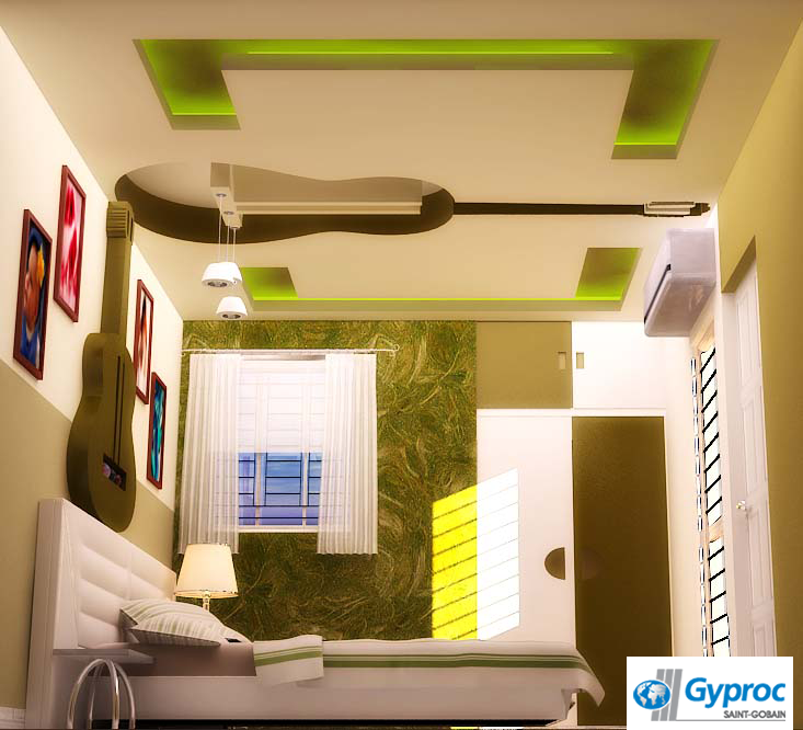 Fresh New Looks For Kids Bedrooms: Gyproc #falseceilings Are The Perfect Way To Give Your