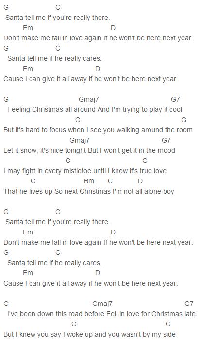 Last Christmas Ariana Grande Ukulele Chords Christmaswalls