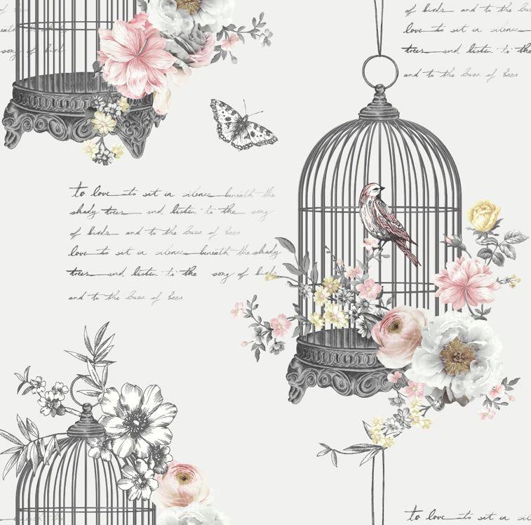 Diamond Birdcage Neutral Birdcage Wallpaper Neutral Wallpaper Pattern Wallpaper