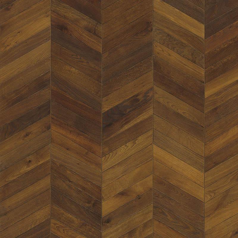 Kahrs Chevron Dark Brown Patterned Engineered Hardwood Flooring
