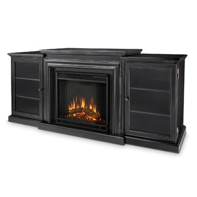 Real Flame Frederick Entertainment Center With Electric Fireplace Color Blackwash 7740e Bw Realflame 7740ebw
