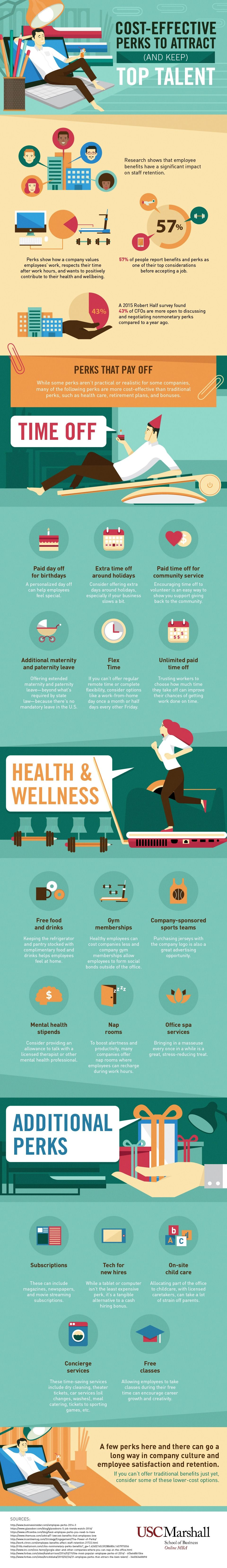 Cost-Effective Perks to Attract (and Keep) Top Talent #Infographic