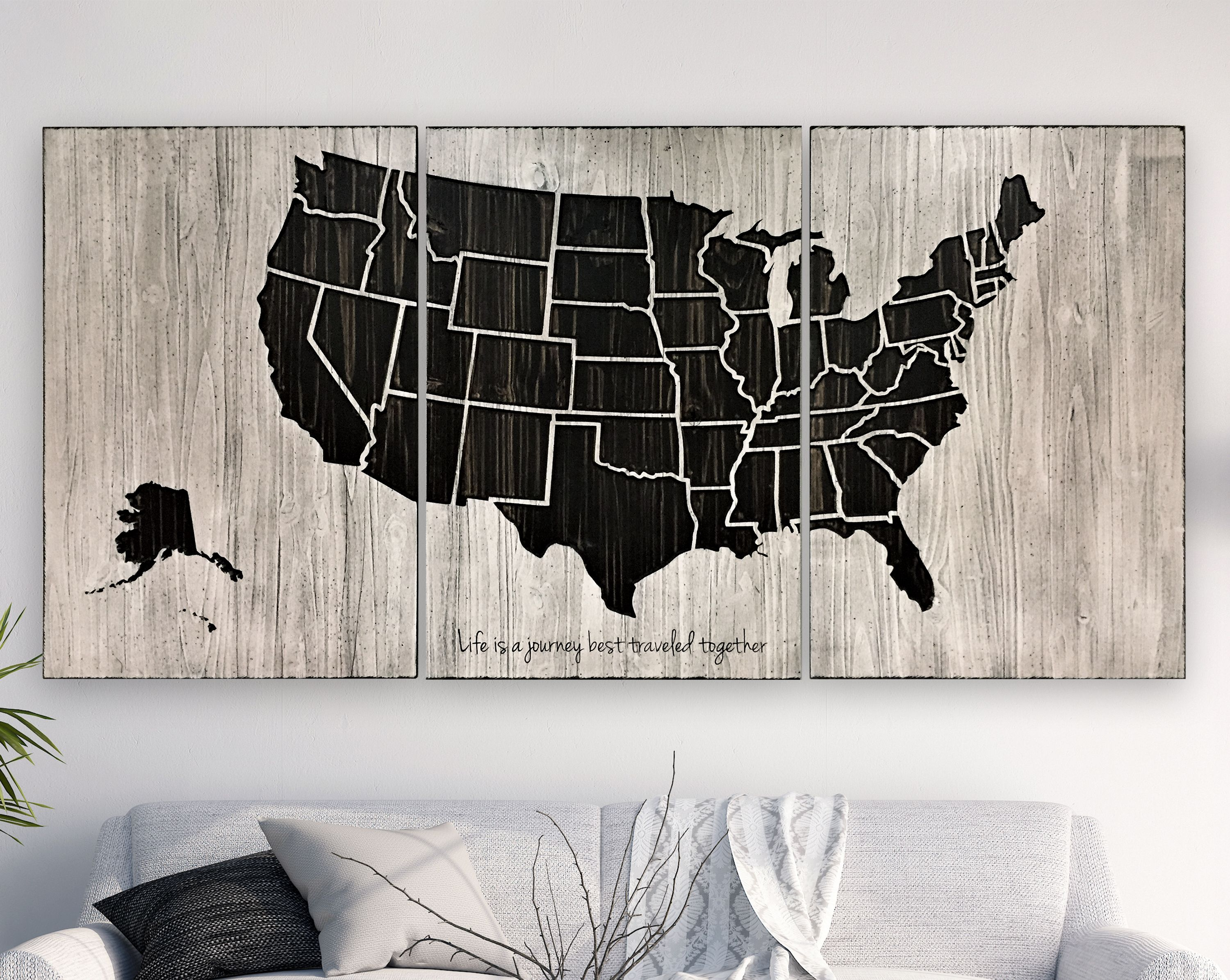 Howdy owl panel carved us map great anniversary or wedding gift