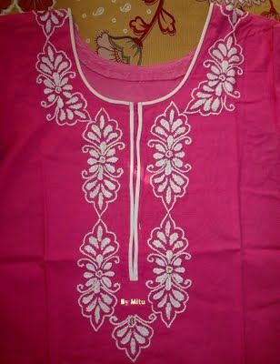 Hand Embroidery Designs For Neck Google Search Tunics Kurthis