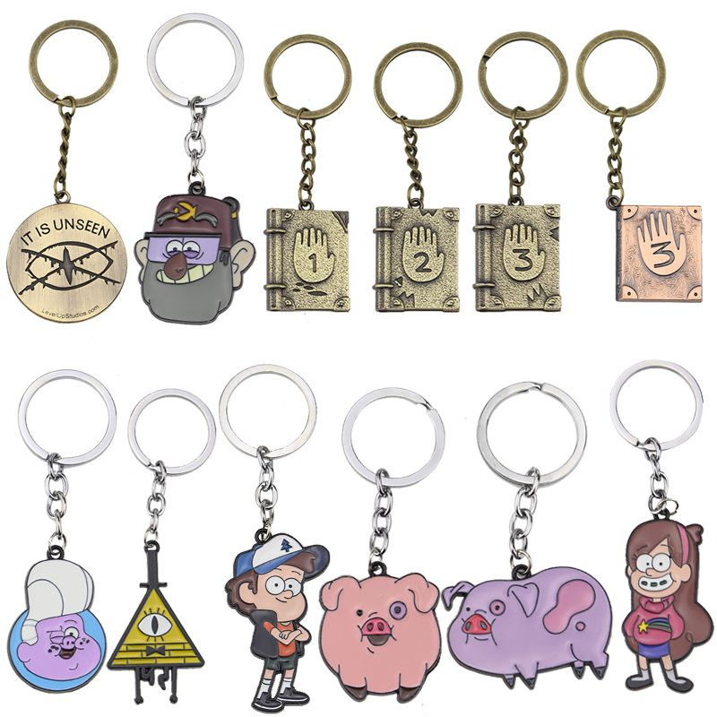 Gravity Falls Bill Cipher Boss alloy Keychain Keyring Cosplay Collection toy