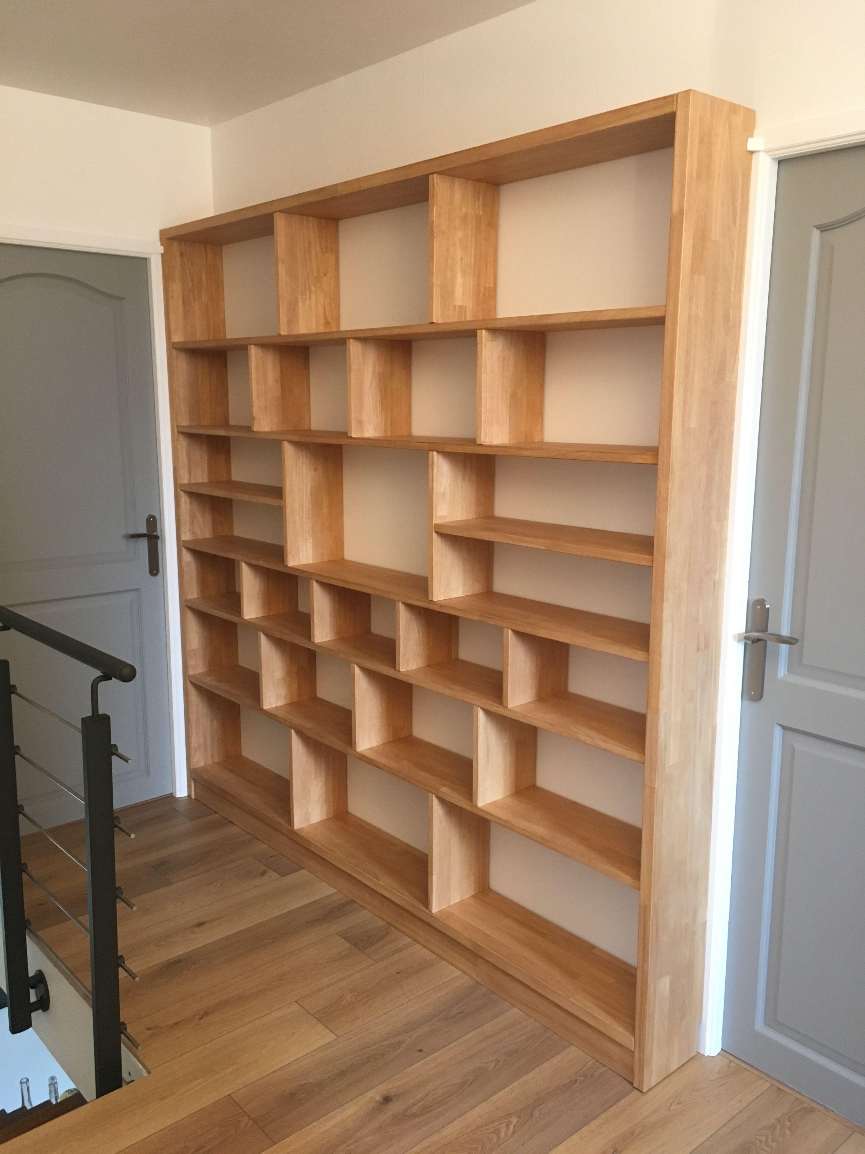 Biblioth 232 Que Design En Bois Massif Bookcase Diy Shelves