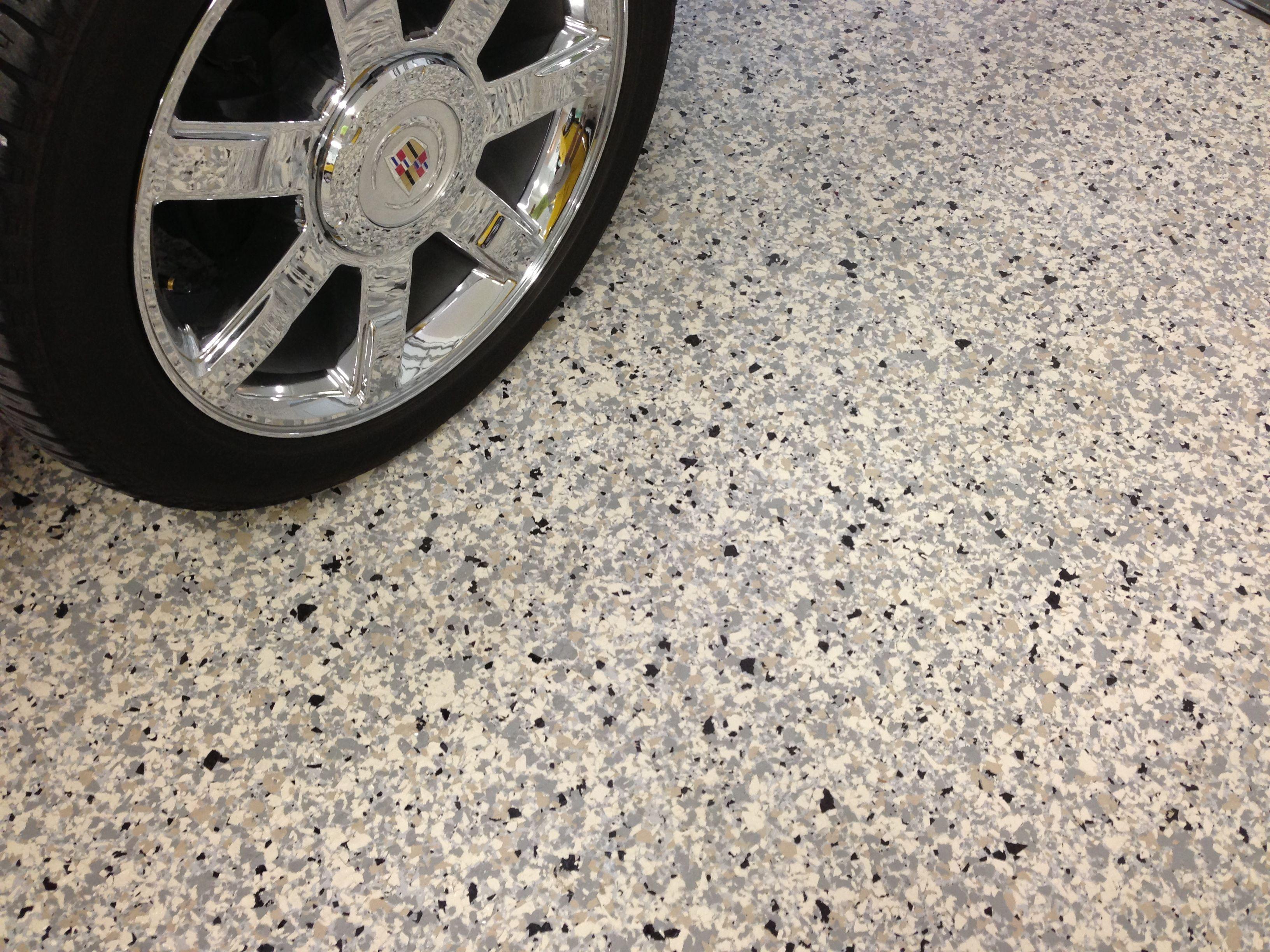 1 Size Granite Blend Flake Full Broadcast On Light Gray