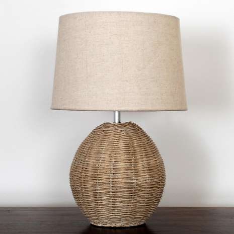 Dunelm ali stylish decorative light brown rattan table lamp rattan constructed with a rattan weave designed base and neutral textured lamp shade our stylish table aloadofball Choice Image