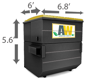 8 Cubic Yard Locker Storage Dumpster Rental Storage