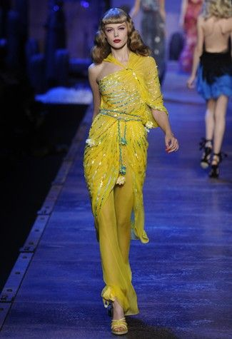 Dior Spring 2011. The canary yellow just does it for me.