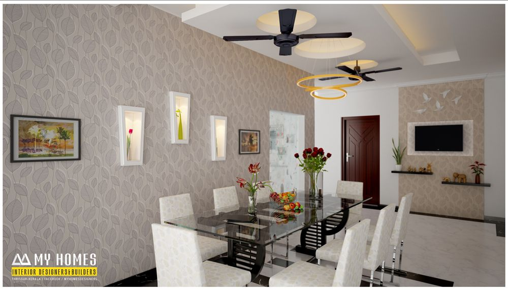 Trendy kerala style dining room designs interior for for Interior design for dining area