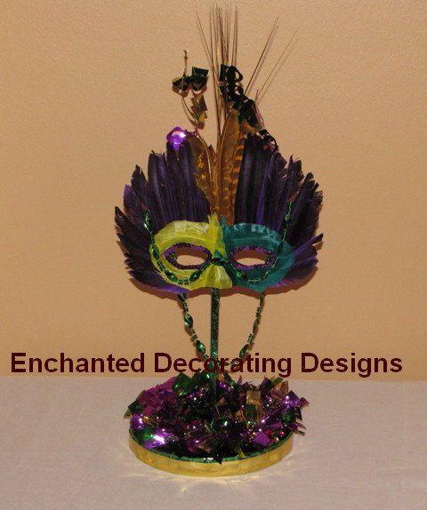 Mardi Gras Wedding Ideas: Mardi Gras Wedding Theme Decoration Centerpiece