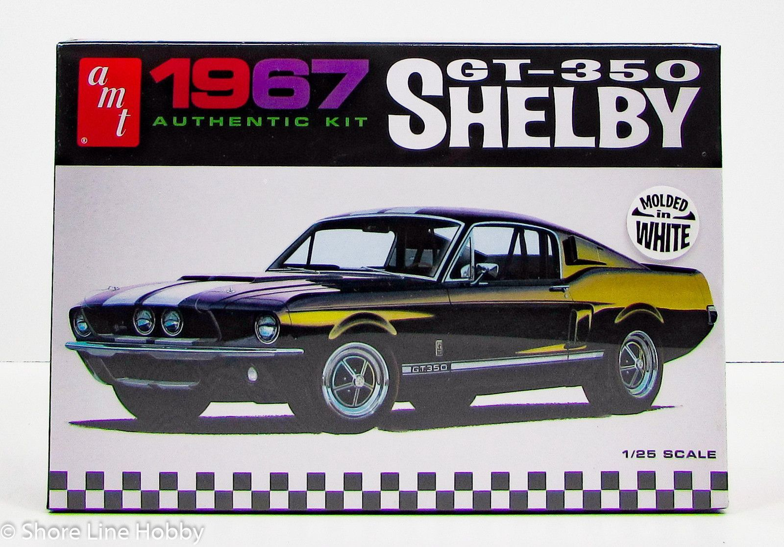 1967 shelby gt 350 ford mustang amt 800 1 25 new car model kit