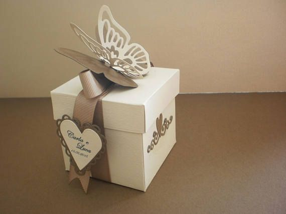 Scatola Bomboniera Portaconfetti Con Farfalla Money Card Box Gift Wrapping Inspiration Creative Gift Wrapping
