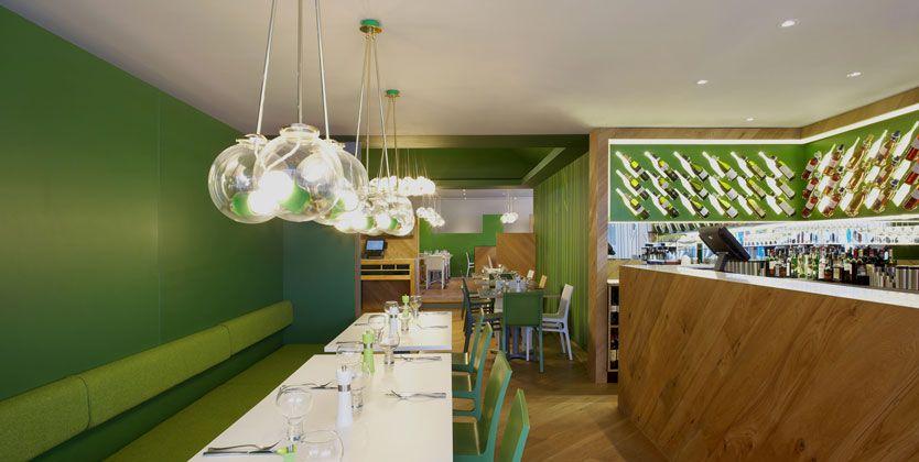 Green restaurant design Design Ideas Pinterest Restaurant