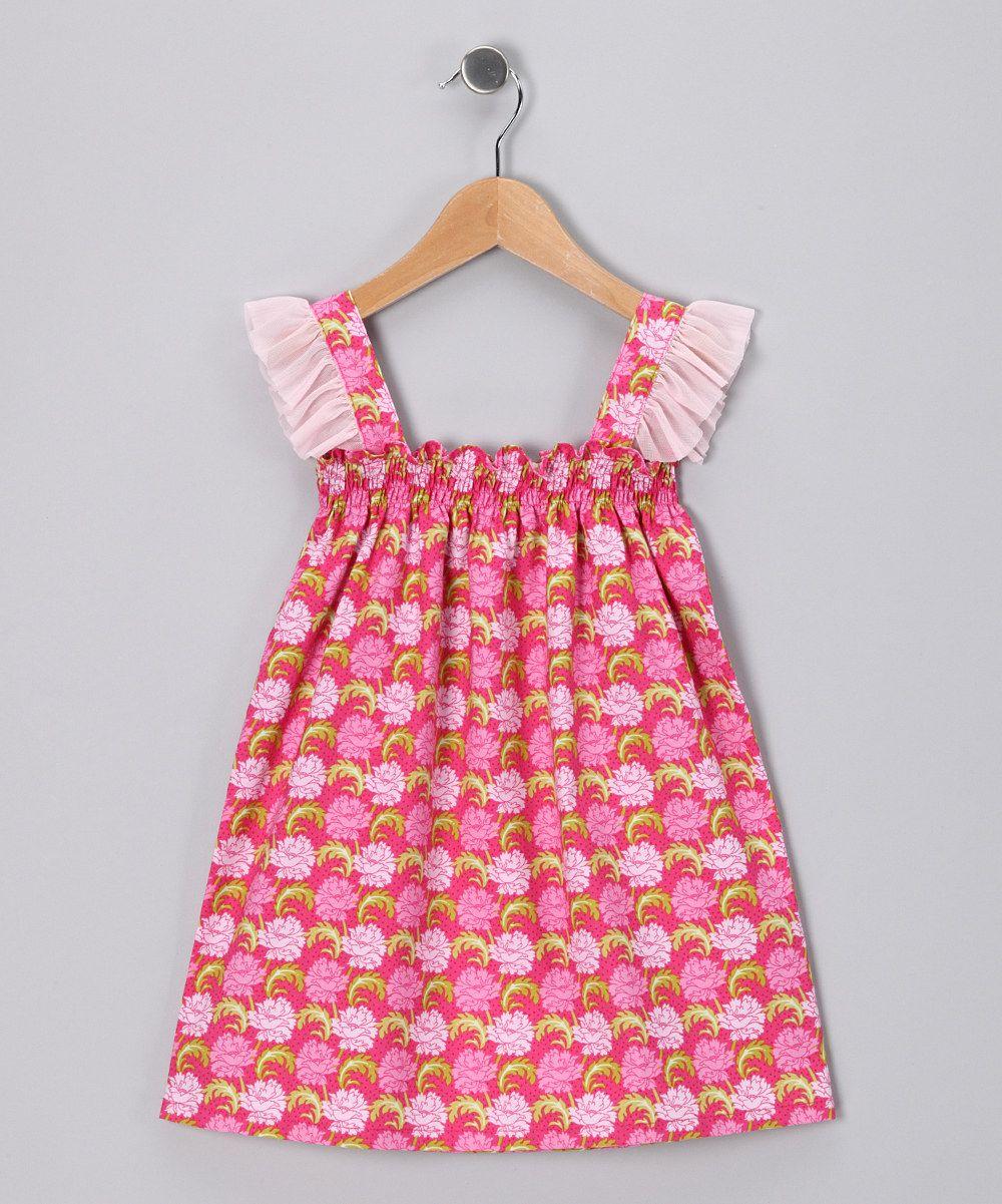 Pink Peony Smocked Dress - Toddler & Girls