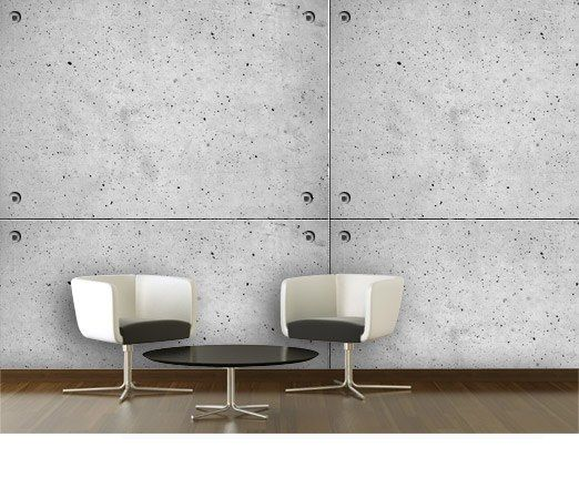 Papier peint Plaque de béton Art wall Pinterest Art walls and - peinture sur beton brut