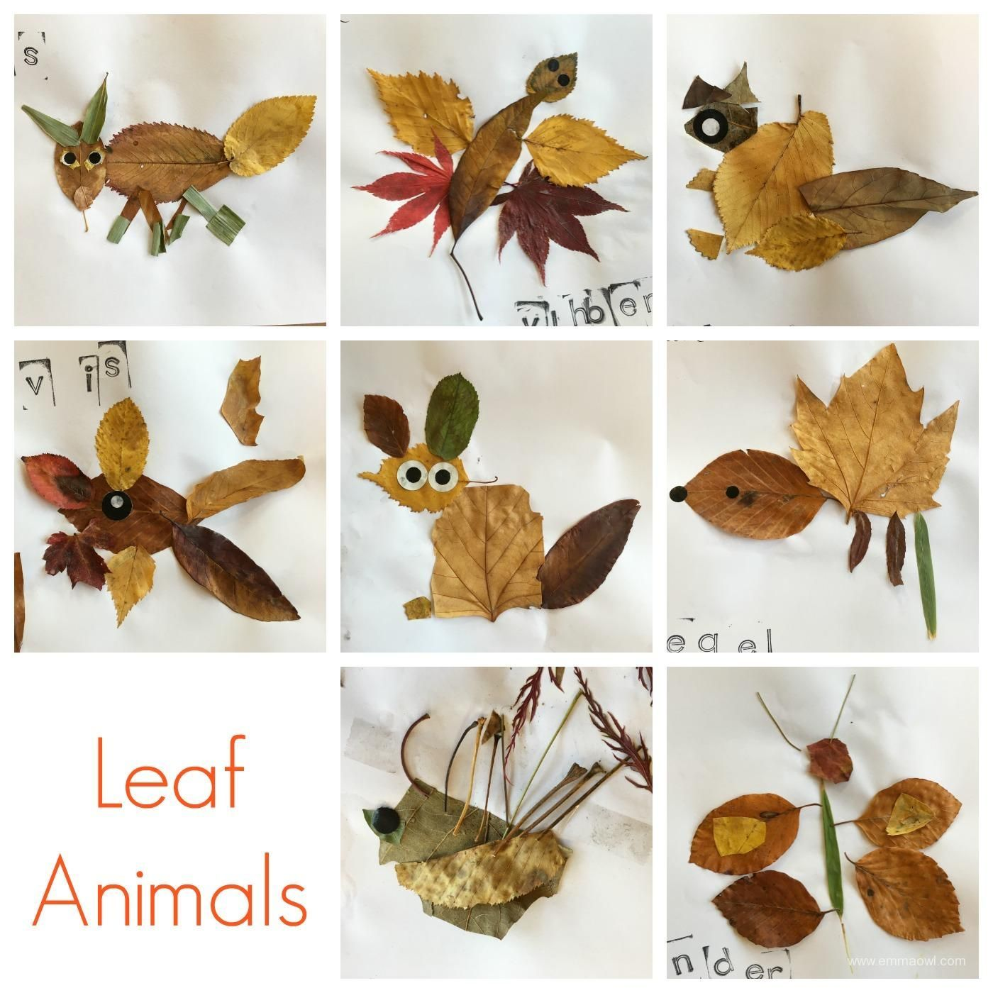Animals!  Great autumn project for art class or a terrific fall activity to do with preschoolers at home or daycare!