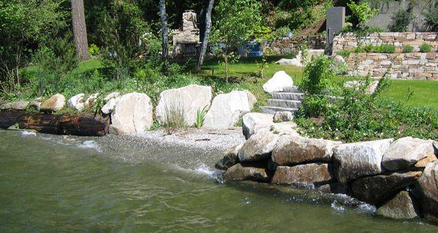 Shoreline Restoration Options Naturalized Bulkhead With Cove Lake Landscaping Landscape Design Landscape
