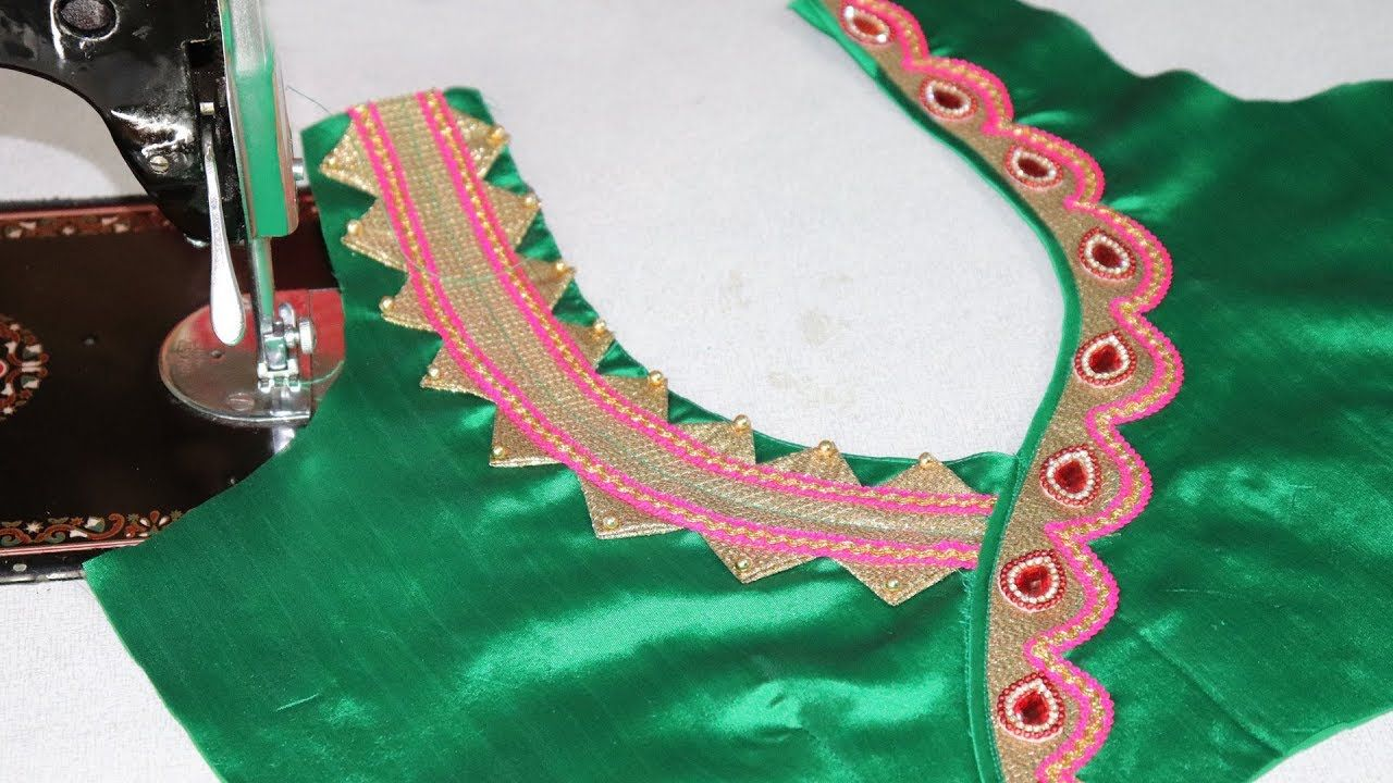 Saree blouse design cutting and stitching easy and beautiful saree blouse neck design cutting and stitching