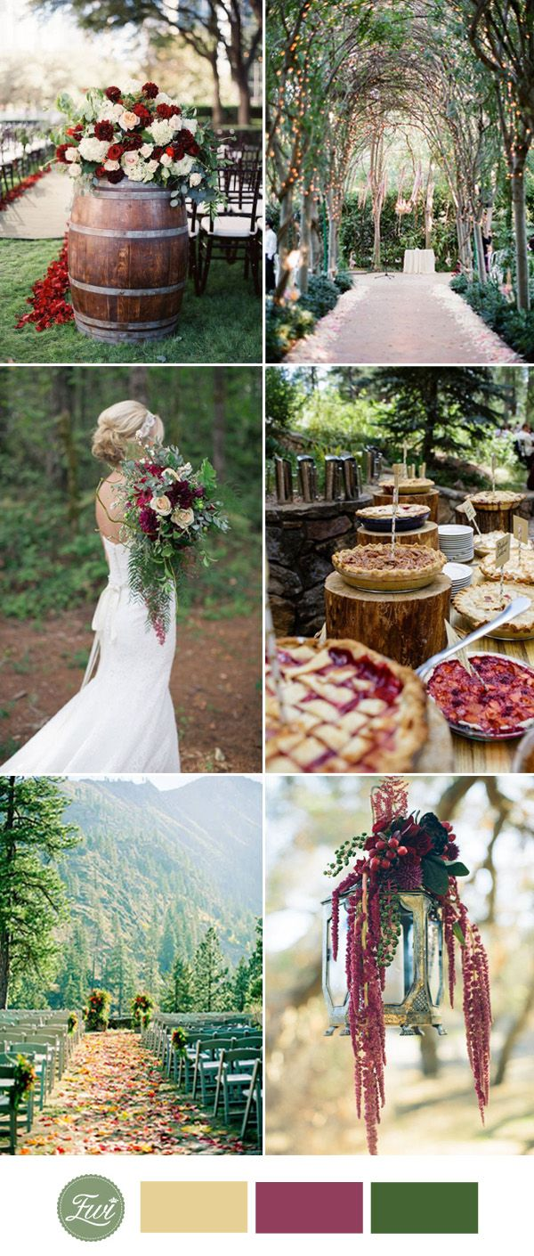 Top 10 Fall Wedding Color Ideas for 2017 Trends Fall