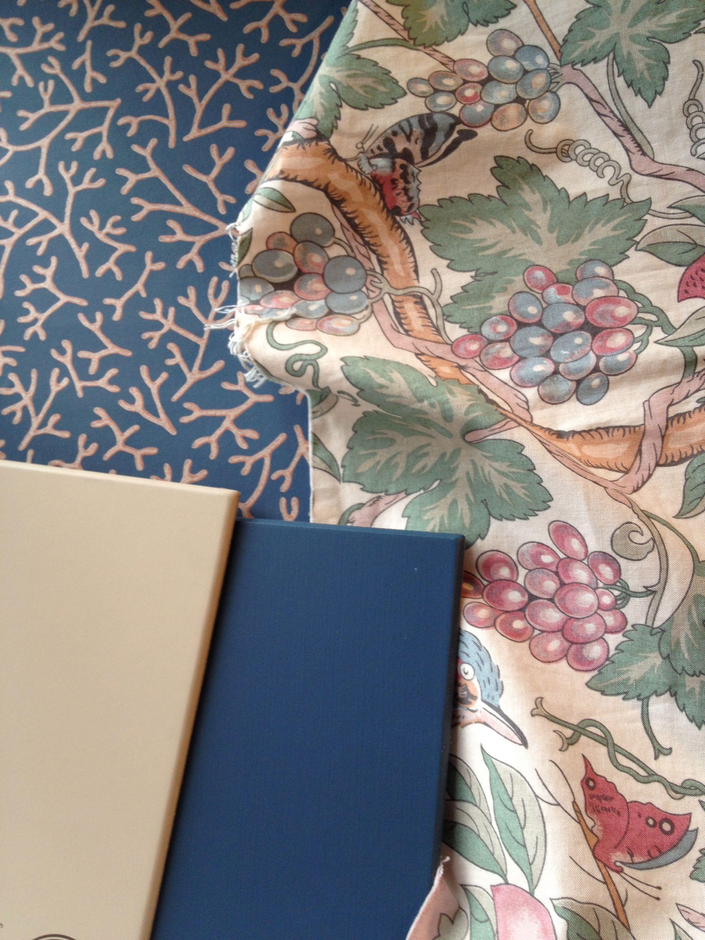 Farrow & Ball wallpaper & paint Stiffkey Blue & Dead Salmon Paint