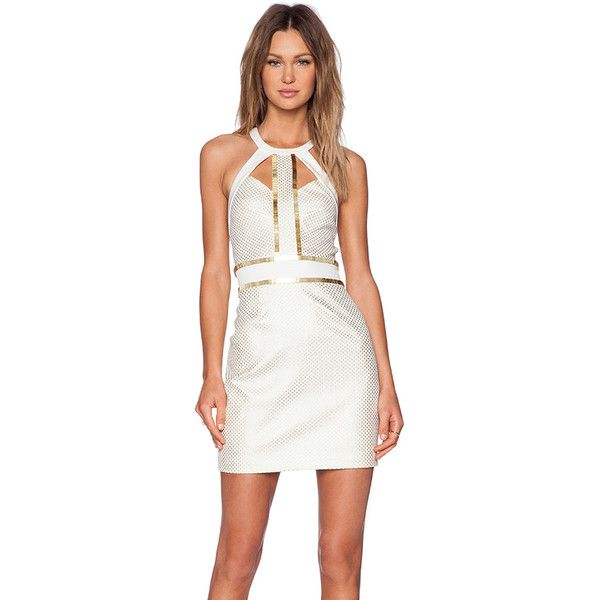 Sass & Bide You're Everywhere Dress Dresses (105.145 HUF) ❤ liked on Polyvore featuring dresses, white cutout dress, white embellished dress, sass & bide, embellished dresses and cut out dress