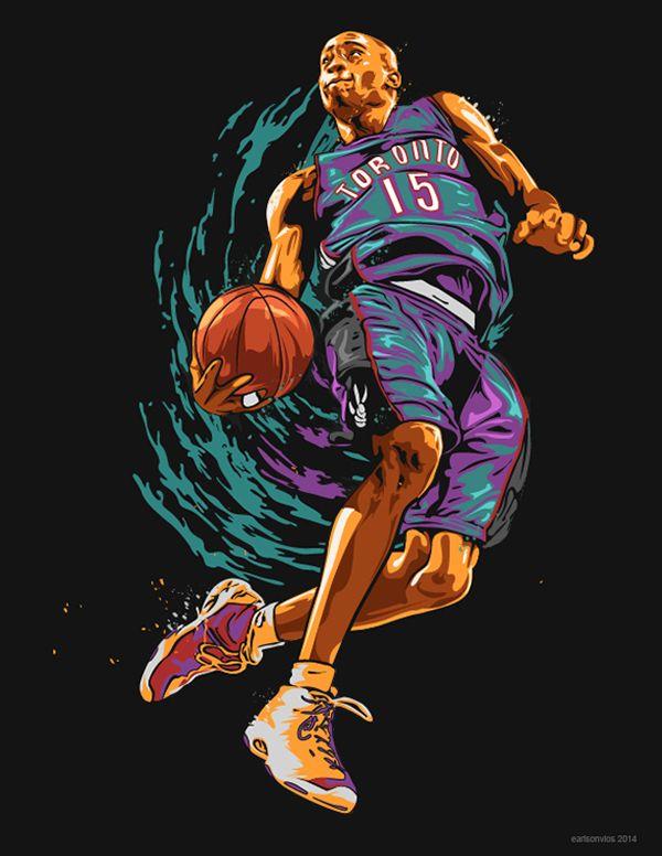 Vince Carter Nba Illustration Nba Art Nba Basketball Art Basketball Art