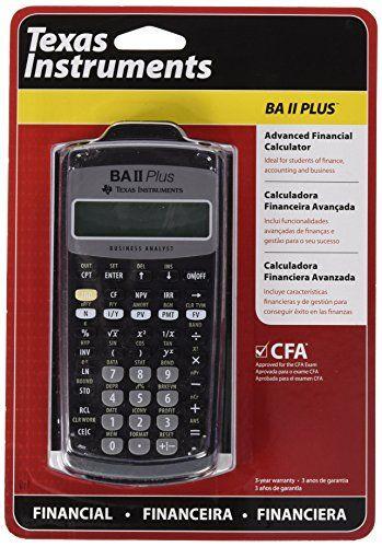 Ba Ii Plus Calculator Online : calculator, online, Texas, Instruments), Advanced, Financial, Calculator, Plus), Calculator,