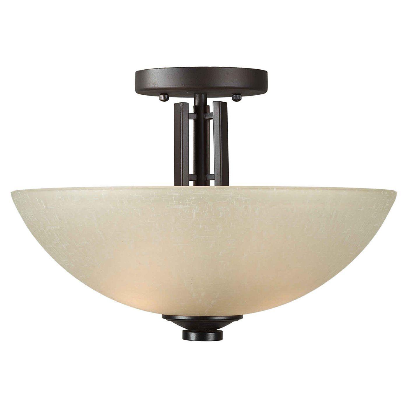 Forte lighting light semiflush semi flush ceiling light