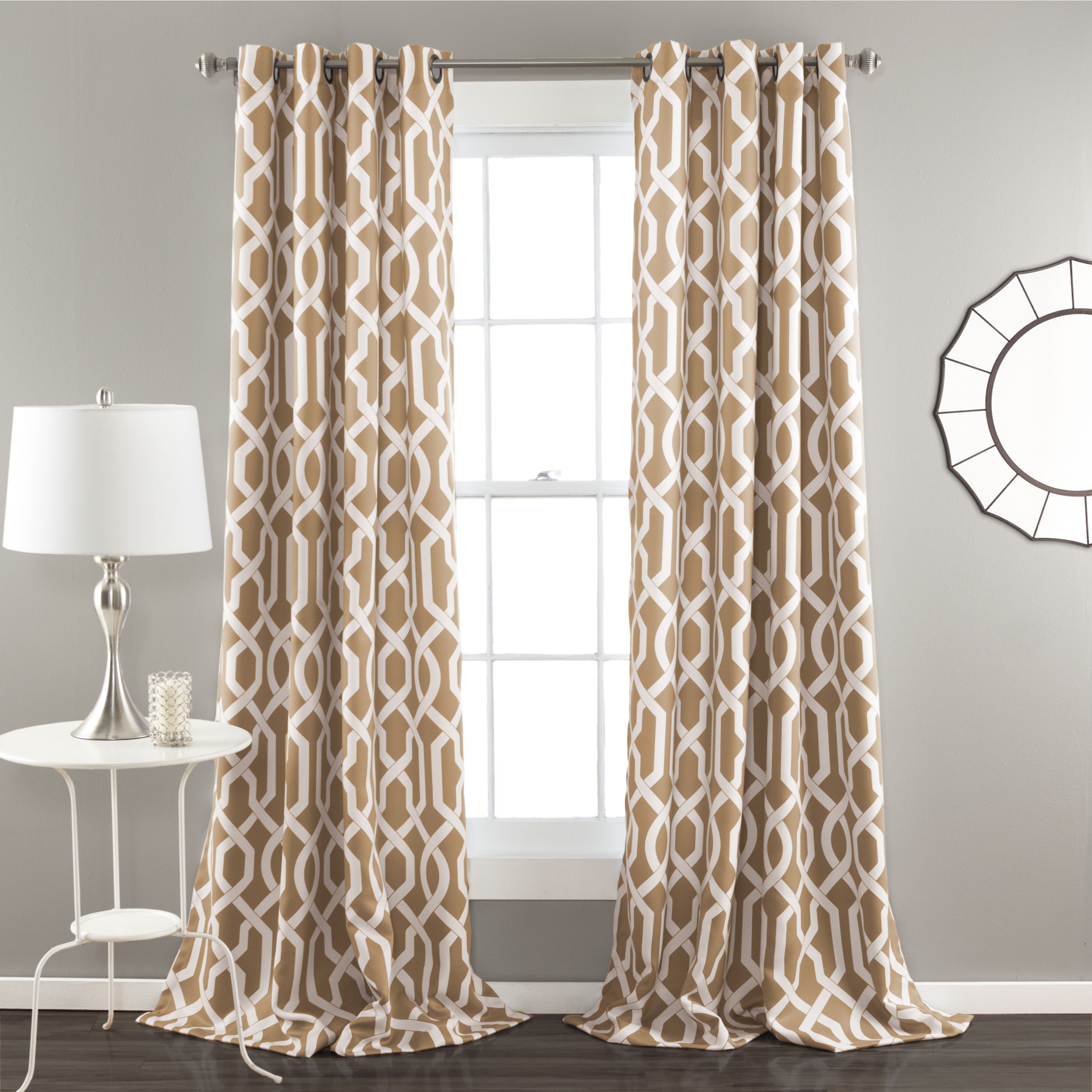 Curtain pair overstock shopping great deals on lights out curtains - Find This Pin And More On Products By Overstock Lush Decor Edward Moroccan Pattern Blackout Curtain Panel Pair