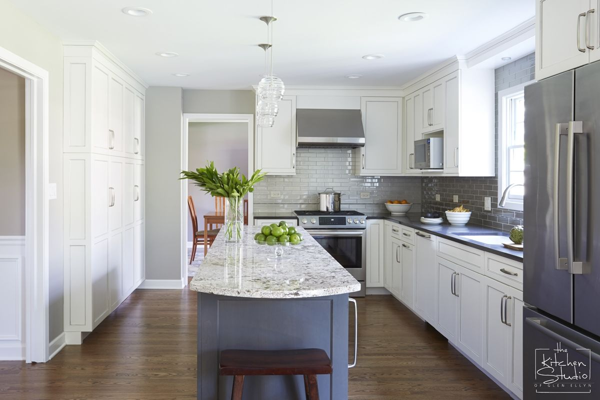 Graceful Gray Kitchen - The Kitchen Studio of Glen Ellyn | Kitchen ...