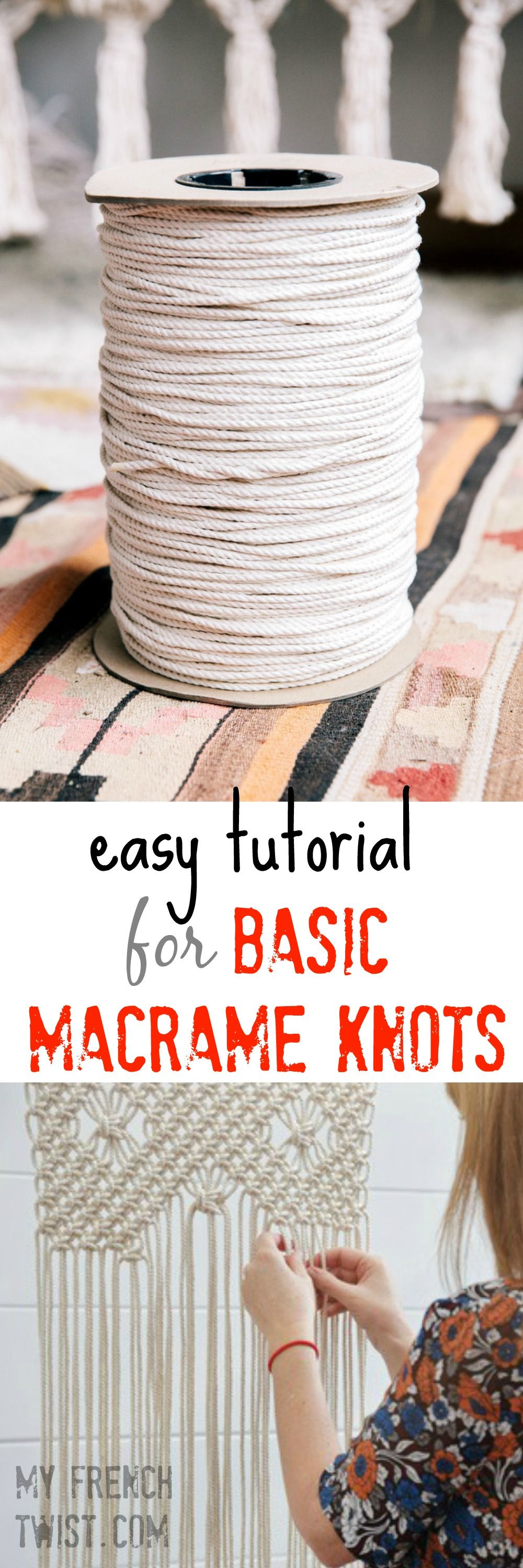easy tutorial for basic macrame knots der faden diy makrame stricken und h keln pinterest. Black Bedroom Furniture Sets. Home Design Ideas