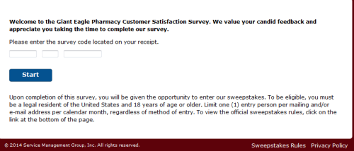 Giant Eagle Pharmacy Customer Satisfaction Survey Www