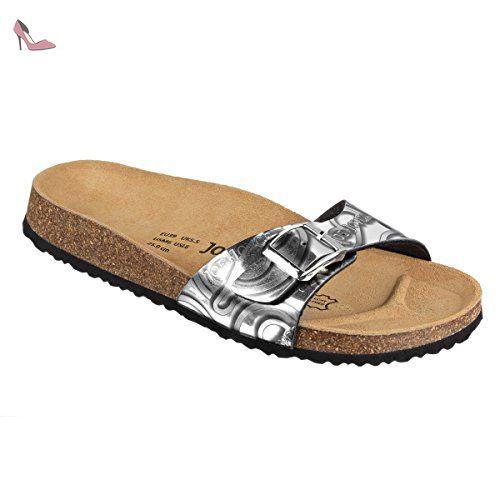JOE N JOYCE Damen Porto Synsoft Soft Fußbett Sandalen Black Patent Größe 38 EU Schmal zCSMiJ