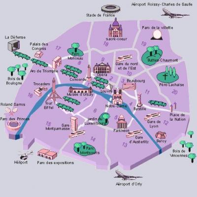 plan paris | Paris in 2019 | Paris travel, Paris map, Paris ...