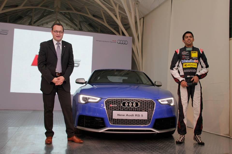 Audi India Ceo Michael Perschke And Audi Racing Star