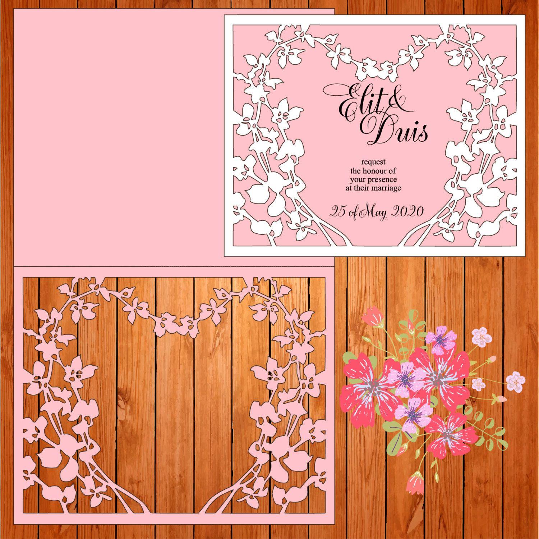 Invitación de la boda tarjeta plantilla, figuras (studio V3, svg ...
