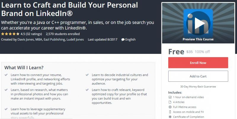 100 Off Learn To Craft And Build Your Personal Brand On   Build Resume From  Linkedin  Build Resume From Linkedin