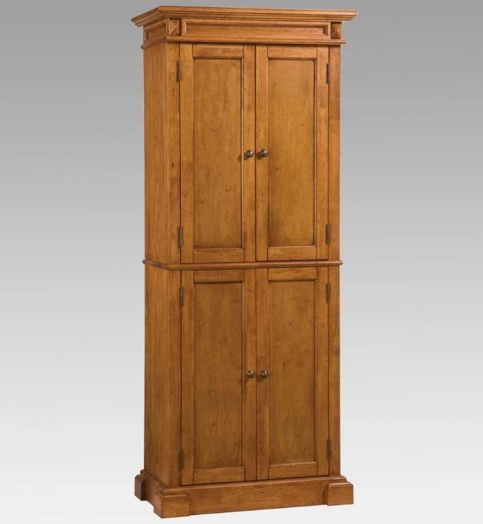 kitchen pantry storage cabinet solid wood cottage oak