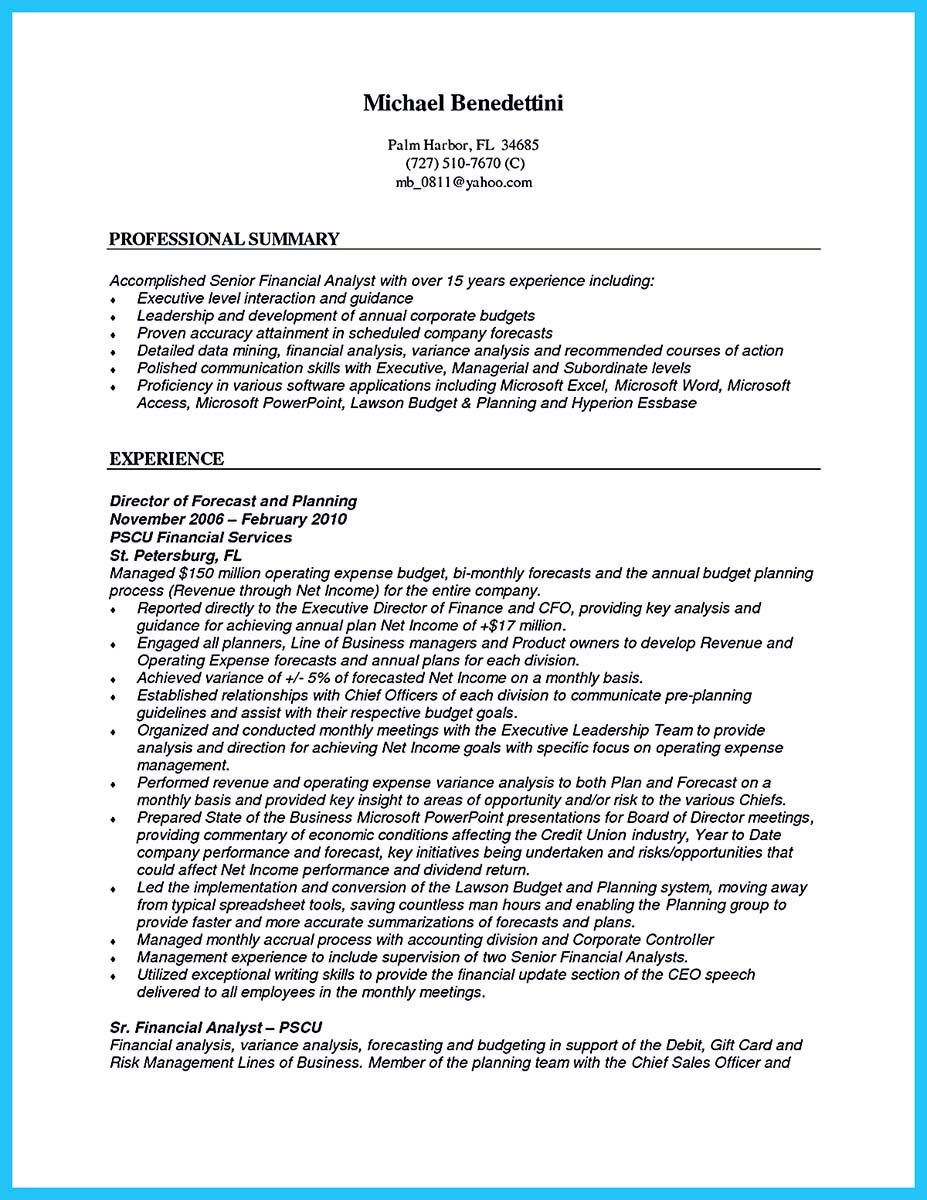Senior Financial Analyst Resume Nice Cool Credit Analyst Resume Example From Professional Check