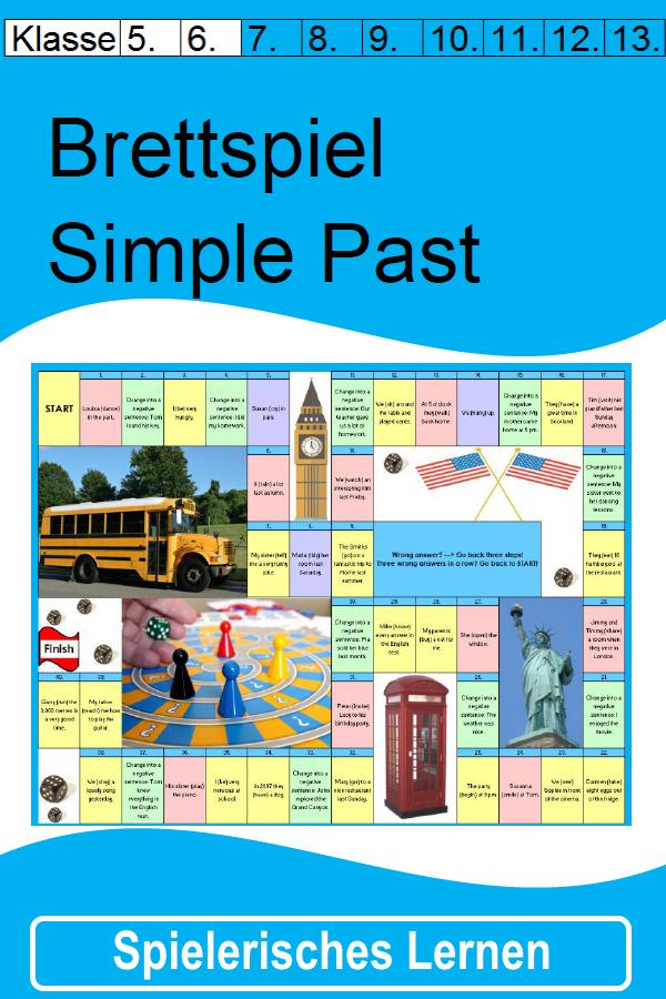 Brettspiel zum Simple Past für die 5. / 6. Klasse - Mit Anleitung ...