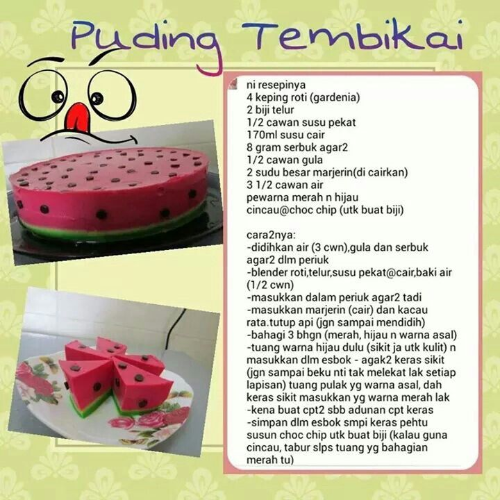 Puding Tembikai Recipes Recipes
